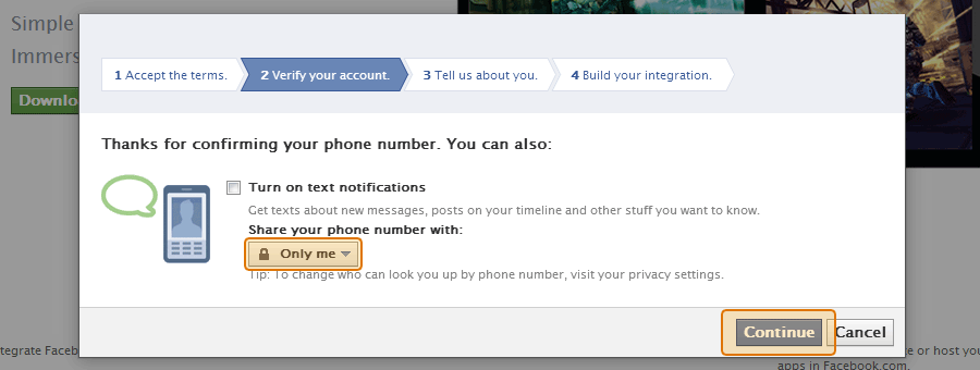 Choose to share your phone number with only you
