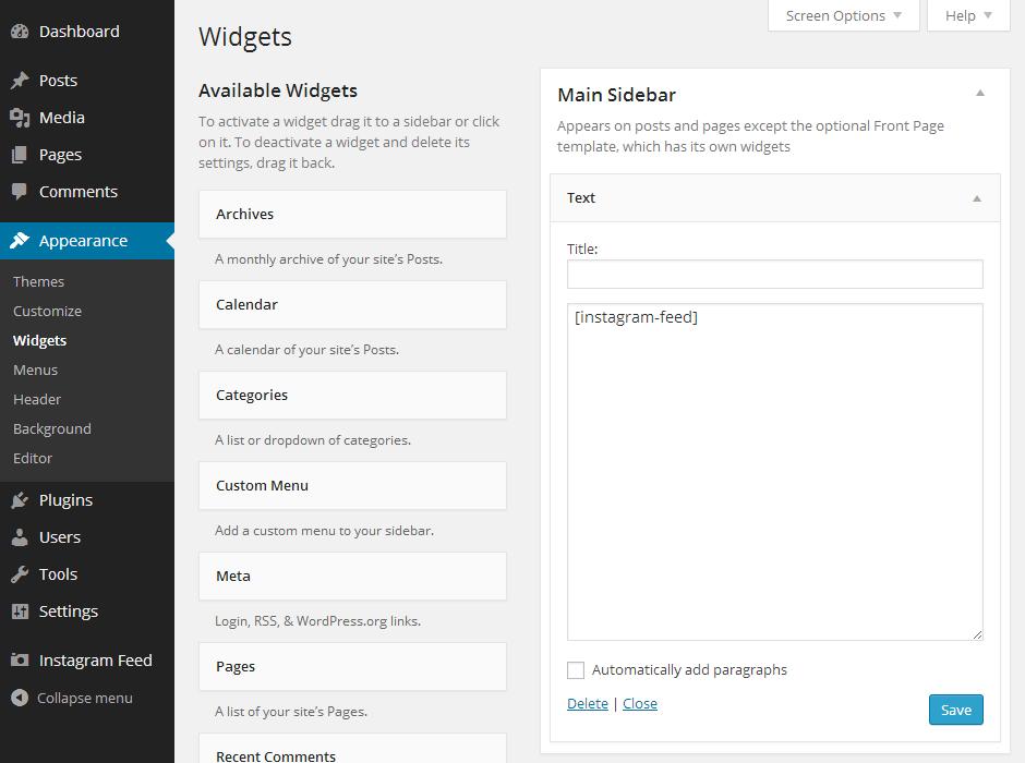 Instagram Feed WordPress Plugin Setup