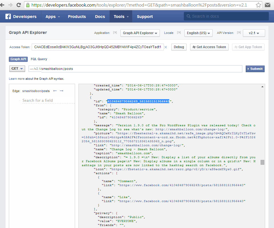 how to find post id facebook