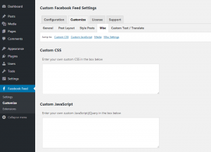 Customizing your Facebook feed WordPress plugin - Misc - Page 1