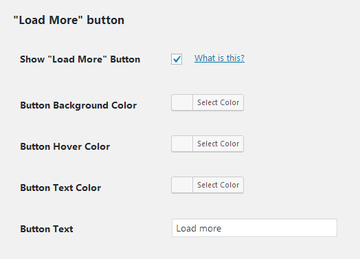 Customize Facebook Load More button