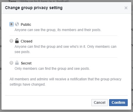 Facebook-group-privacy-settings