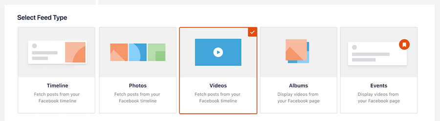 Select feed type video