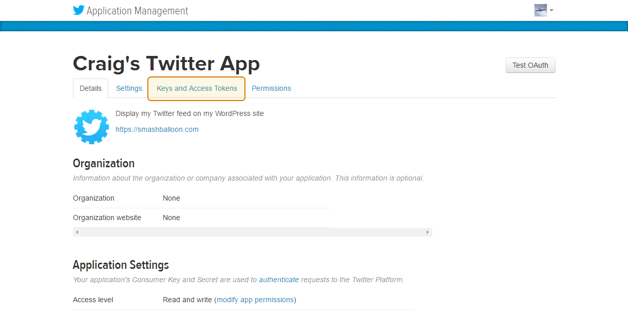 Create your own Twitter App