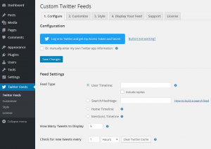 Configuring the Custom Twitter Feeds WordPress Plugin - 1