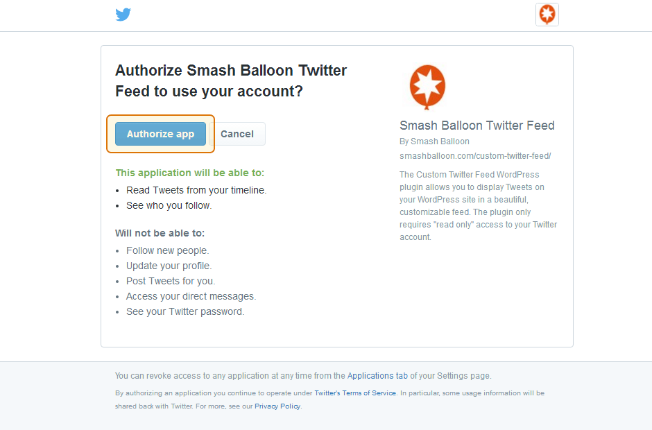 Custom Twitter Feeds WordPress Plugin Setup 13