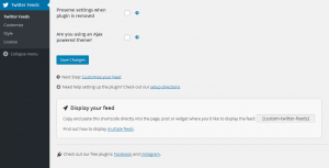 Configuring the Custom Twitter Feeds WordPress Plugin - 2