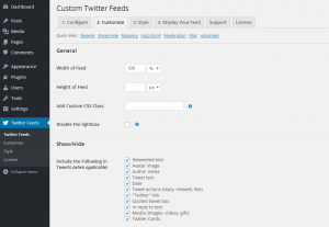 Configuring the Custom Twitter Feeds WordPress Plugin - 3