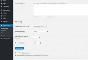 Configuring the Custom Twitter Feeds WordPress Plugin - 6
