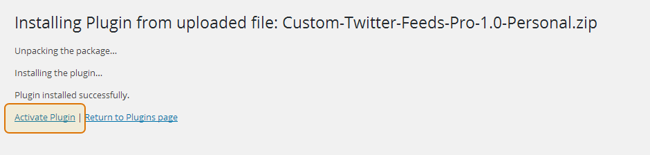 Custom Twitter Feeds WordPress Plugin Setup 6
