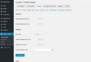 Configuring the Custom Twitter Feeds WordPress Plugin - 7