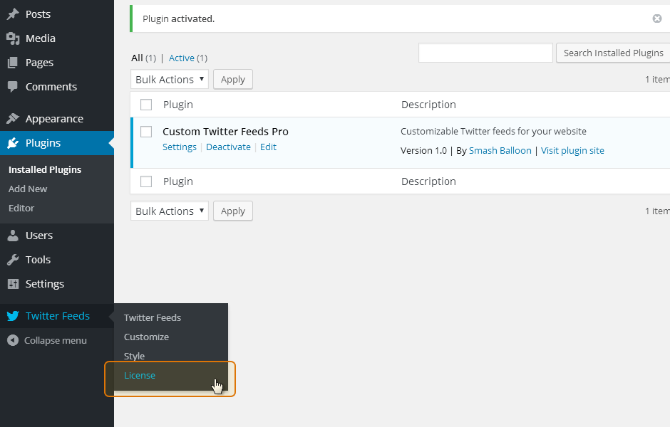 Custom Twitter Feeds WordPress Plugin Setup 7