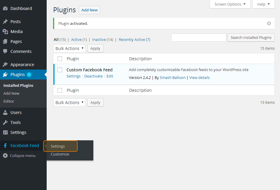 Custom Facebook Feed WordPress Facebook Plugin
