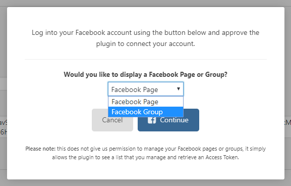 Select Facebook Group