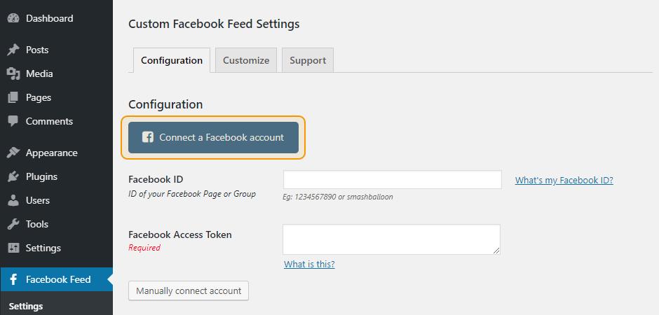Connect a Facebook Account
