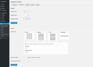 Feeds for YouTube WordPress plugin - Customize 1