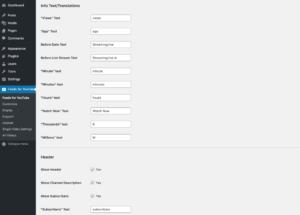 Feeds for YouTube WordPress plugin - Customize 3