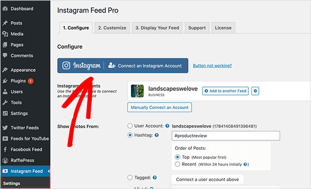 Connect an Instagram account