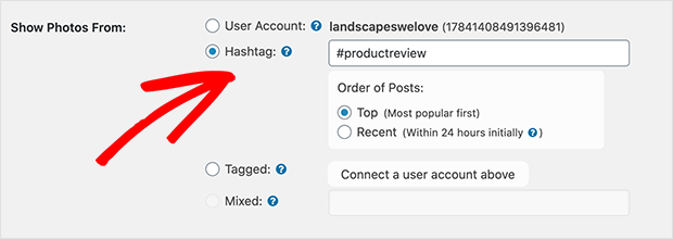 Display a Hashtag feed
