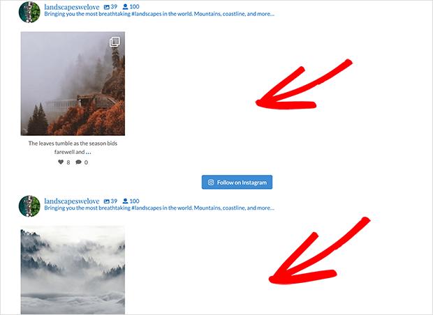 Display multiple instagram feeds
