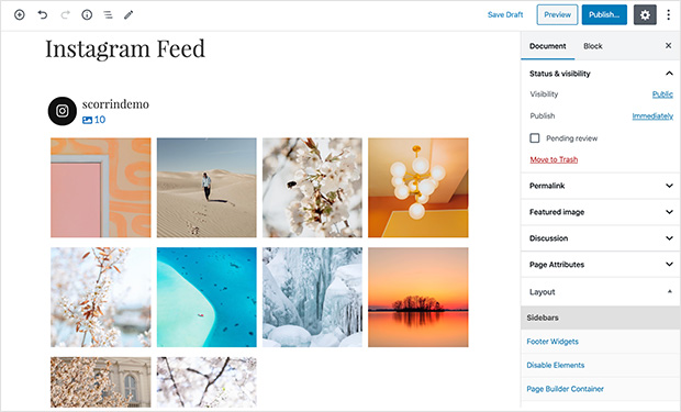 embedded instagram feed