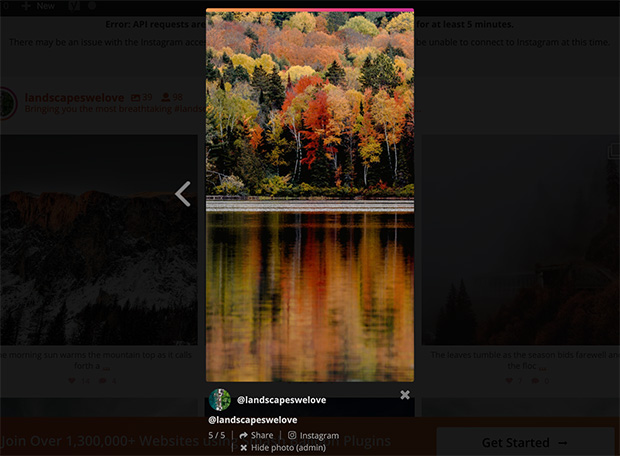 Display full screen instagram stories on your website