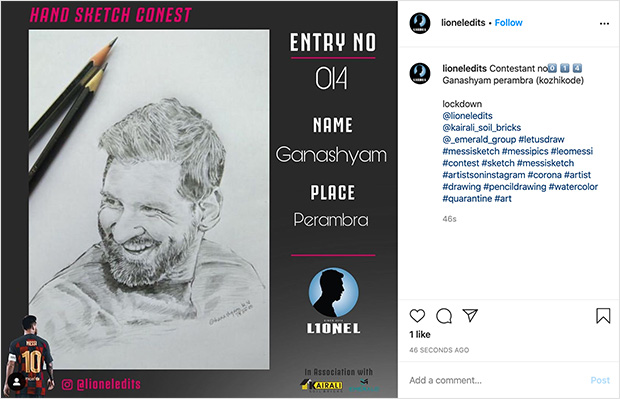 Instagram contest post types