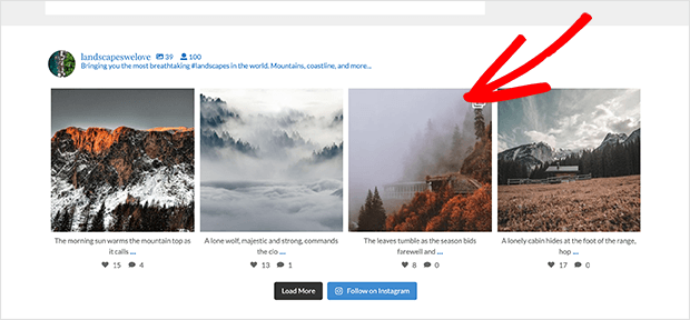 Instagram Feed in Footer using widget