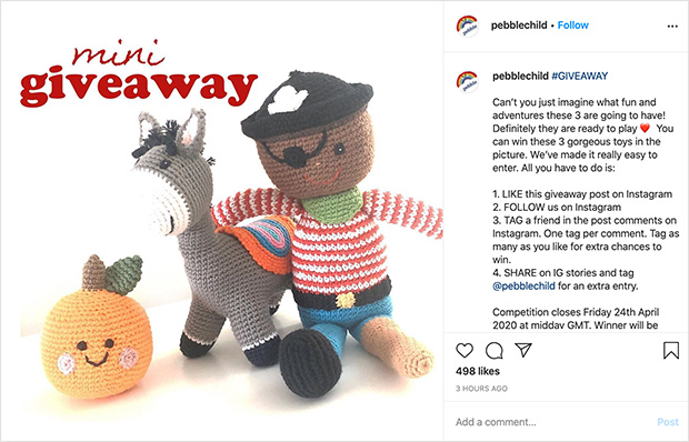 Instagram giveaway post