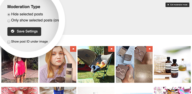 visual moderation on Instagram feeds