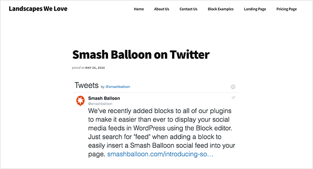 Embedded twitter feed in wordpress using HTML