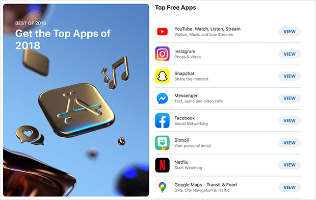 top apple apps 2018 instagram
