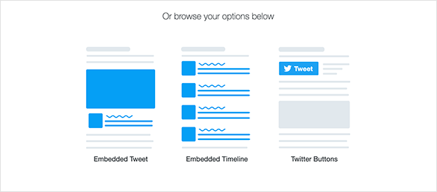 Twitter publish embed type