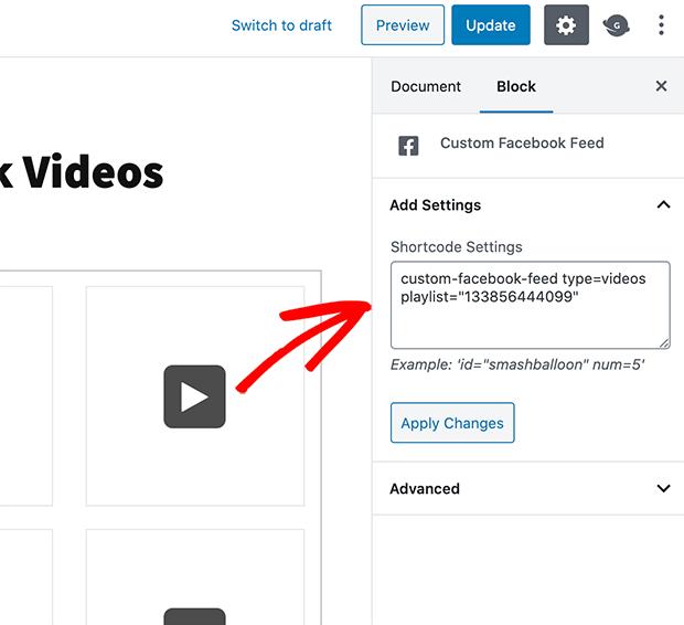 embed facebook video wordpress shortcode