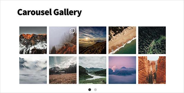 carousel instagram gallery in wordpress