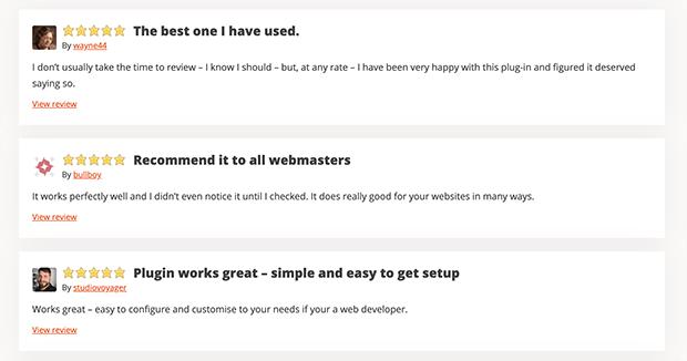 Custom Twitter Feed plugin reviews
