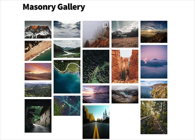 masonry instagram gallery wordpress