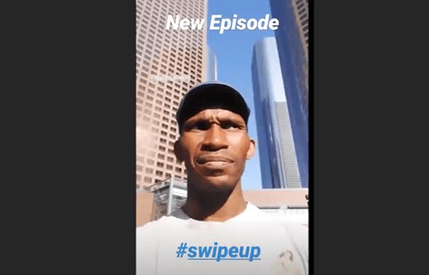 add a swipe up link in instagram for youtube