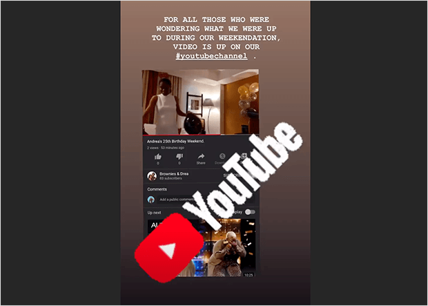 tease your youtube videos in instagram stories
