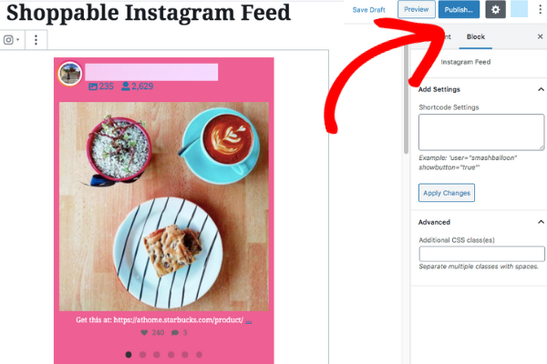 how to set up instagram shopping wordpress post