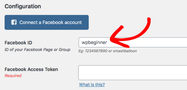 embed facebook group on website group name