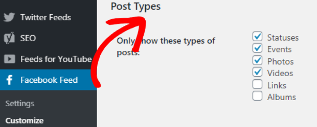 embed facebook group on website post types