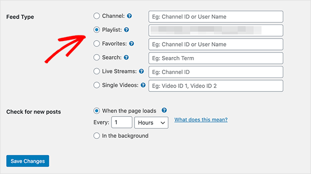 enter ID of the youtube playlist you want to embed