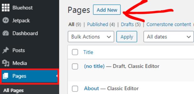 facebook feed widget for wordpress add page