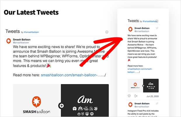 Twitter WordPress widget embedded in a sidebar area