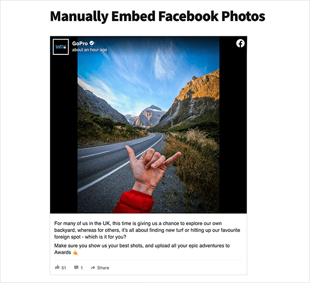Display facebook photos manually on your website without a plugin