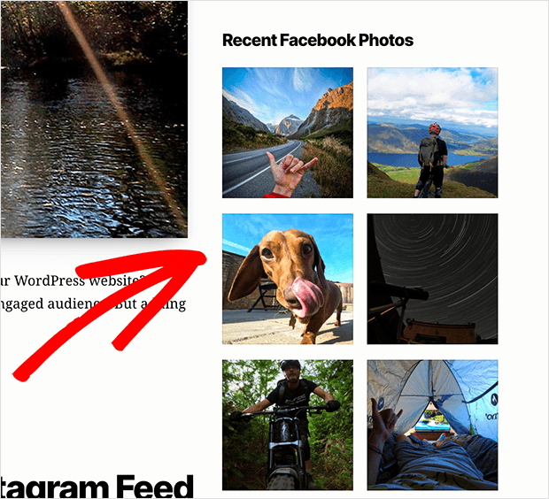 Display Facebook photos in your website sidebar