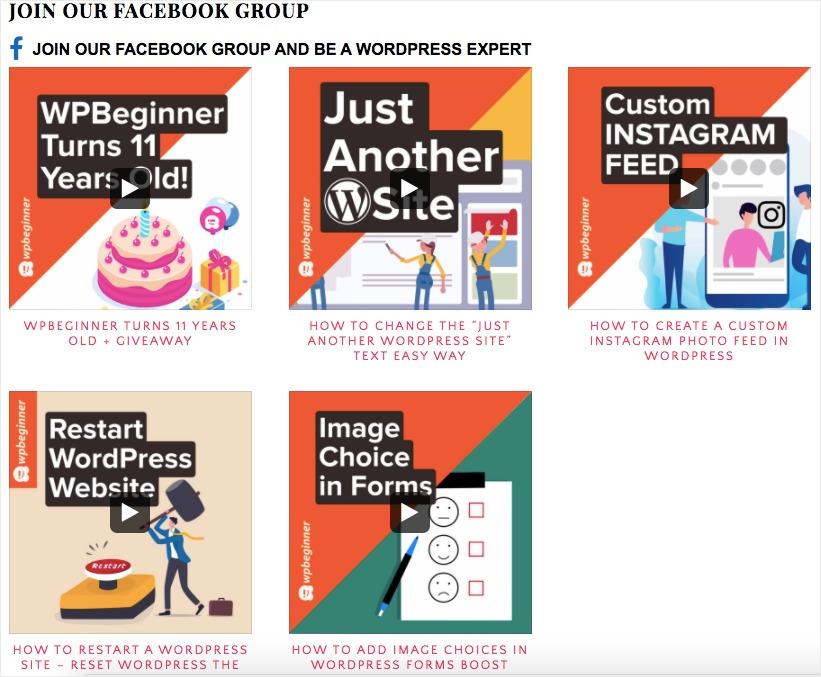 embed facebook group on website embed