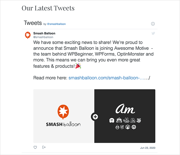 Example of adding your twitter feed to WordPress without a plugin