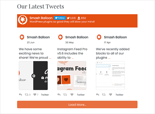 add your twitter feed to WordPress with a plugin